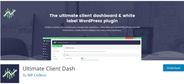Screenshot of iltime client dash from wordpress.org