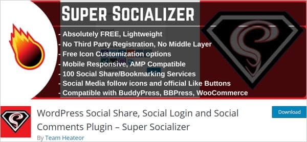 Super Socializer - WordPress Social Share, Social Login and Social Comments Plugin