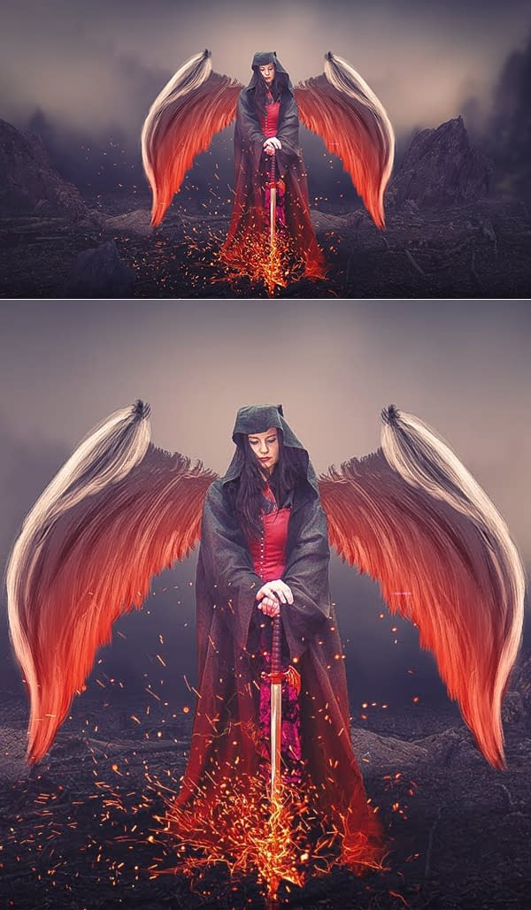 How to Create Angle With Sword Photoshop Manipulation And Digital Art Photoshop Tutorial