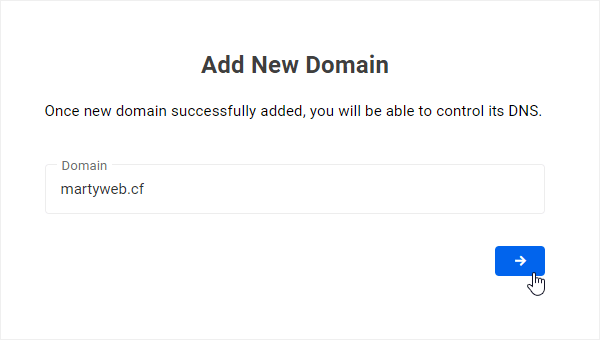 Add New Domain
