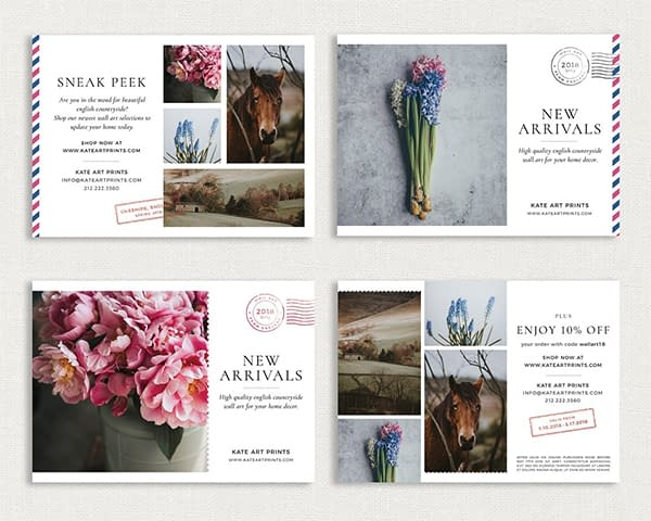Airmail Postcard Flyers Template