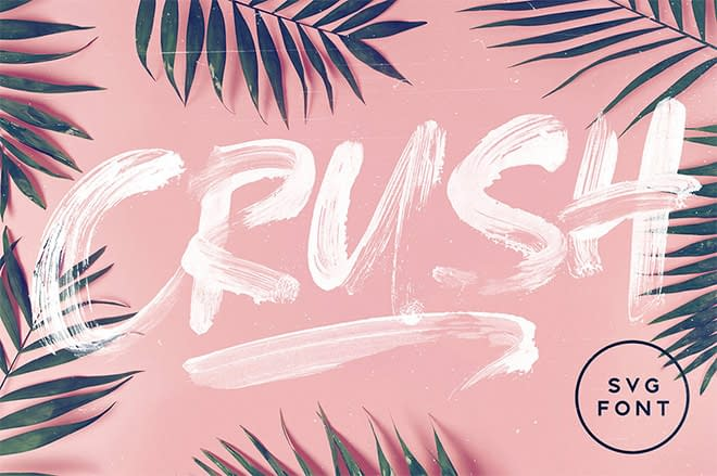 Crush SVG Font Set Sail Studios