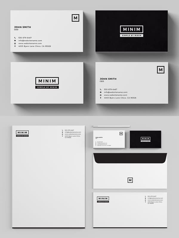 Minim - Simple Clean Stationery