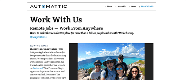 Working with Automattic.