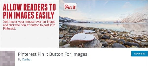 Pinterest Pin It Button For Images WordPress social sharing plugin.