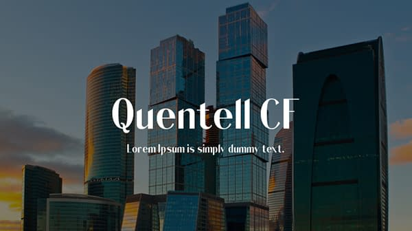 Quentell CF Free Font