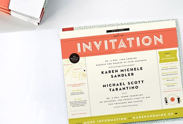 Wedding invitation design is a great way to show off personality.