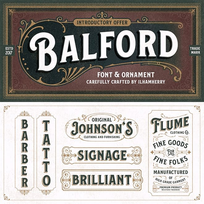 Balford Font Family & Ornaments