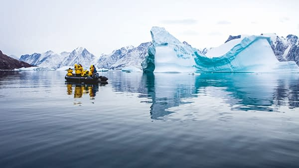 Cruise through glacier Photography by Rose Lee
