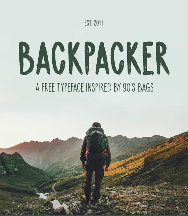 Backpacker Free Font