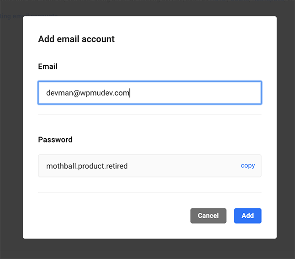 Add a new email.