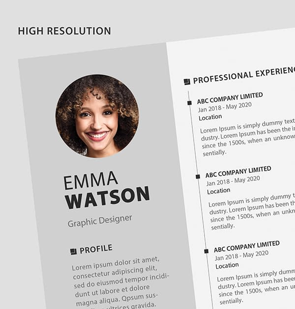 Free Resume Template PSD View - 5