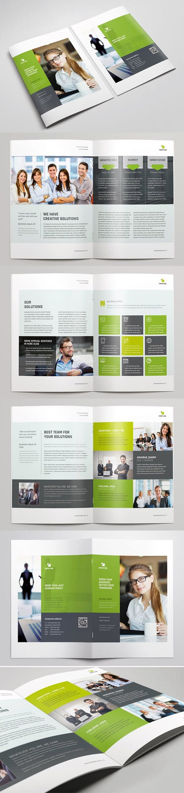 Brochure Annual Report Templates