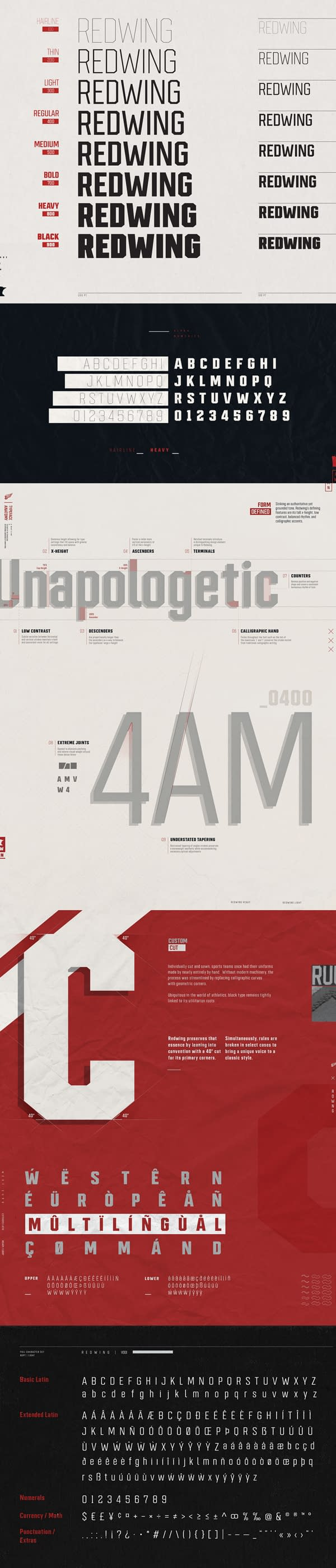 Redwing Free Font Letters