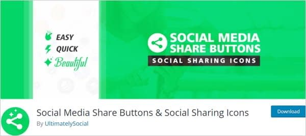 Social Media Share Buttons & Social Sharing Icons plugin for WordPress