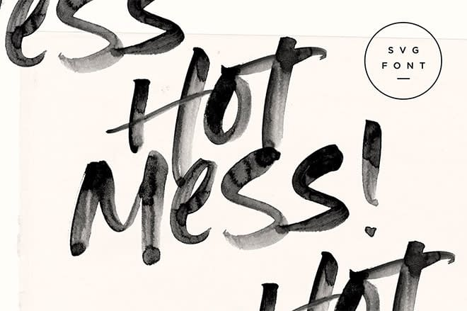 Hot Mess SVG Font by Set Sail Studios