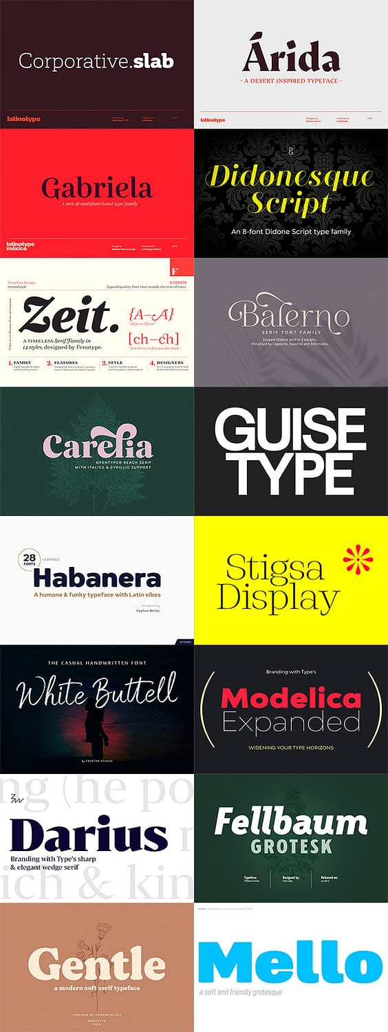 The Versatile Font Collection