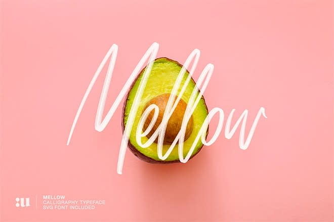 Mellow: Brush & SVG Font by Unio