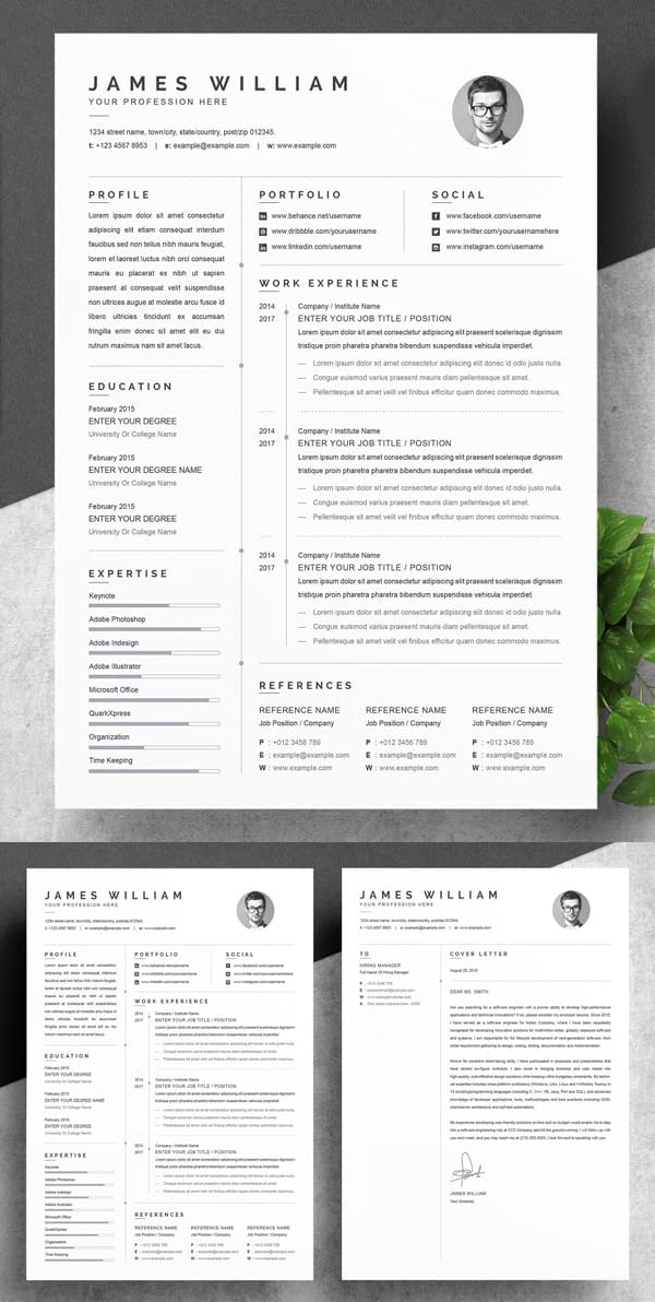 One Page Resume and Cover Letter