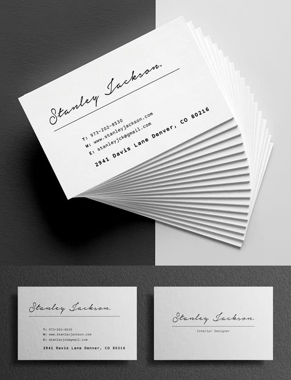 Clean Business Card Template Design