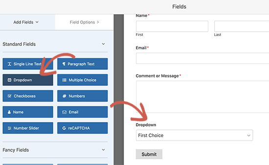 Adding new field to your contact form