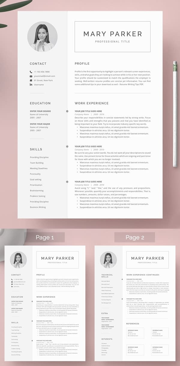 Awesome Word Resume & Cover Letter Template