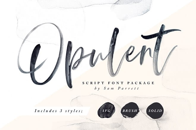 Opulent + SVG Font by Set Sail Studios