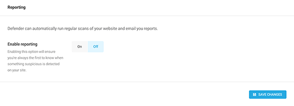 Enable reporting section.