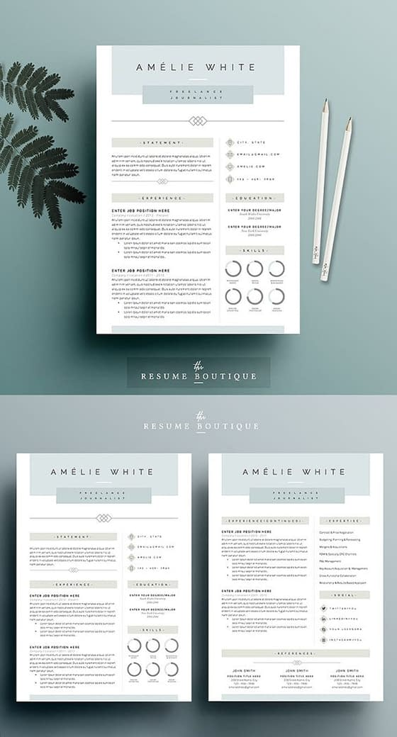 Resume Template 4 page pack