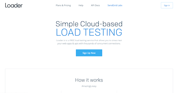 We used Loader.io to run tests on each host