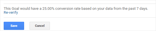 Verifying that your goal works in Google Analytics