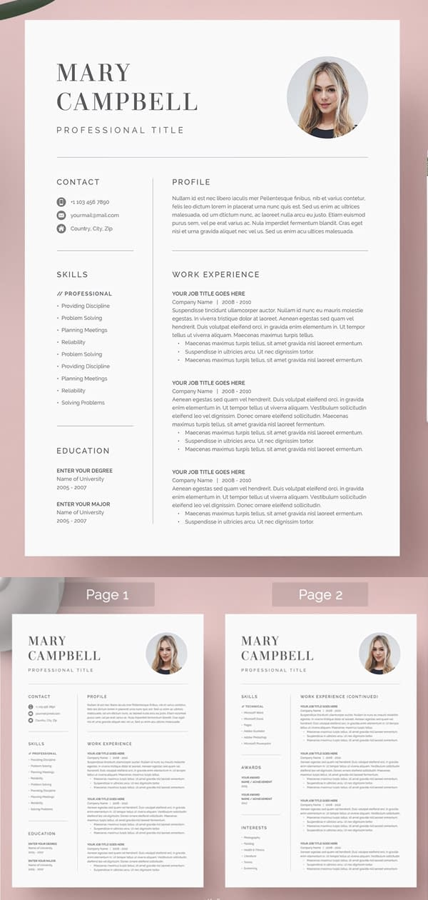 Stylish Word Resume & Cover Letter Template