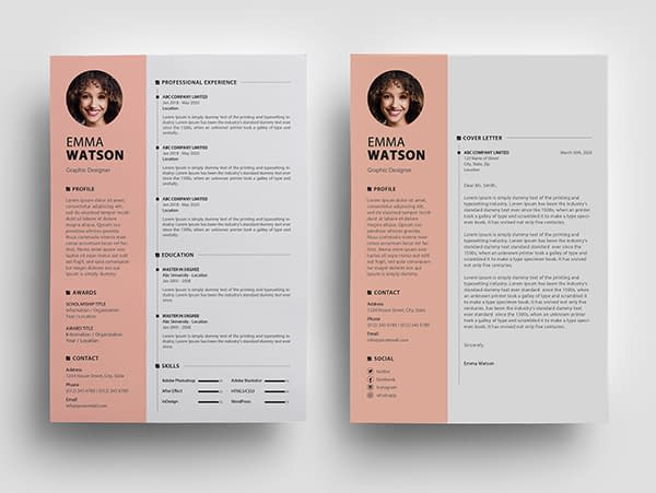 Free Resume Template PSD View - 2