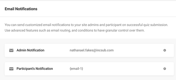 Where you can adjust the email notifications.