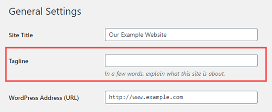 Removing the tagline completely in WordPress