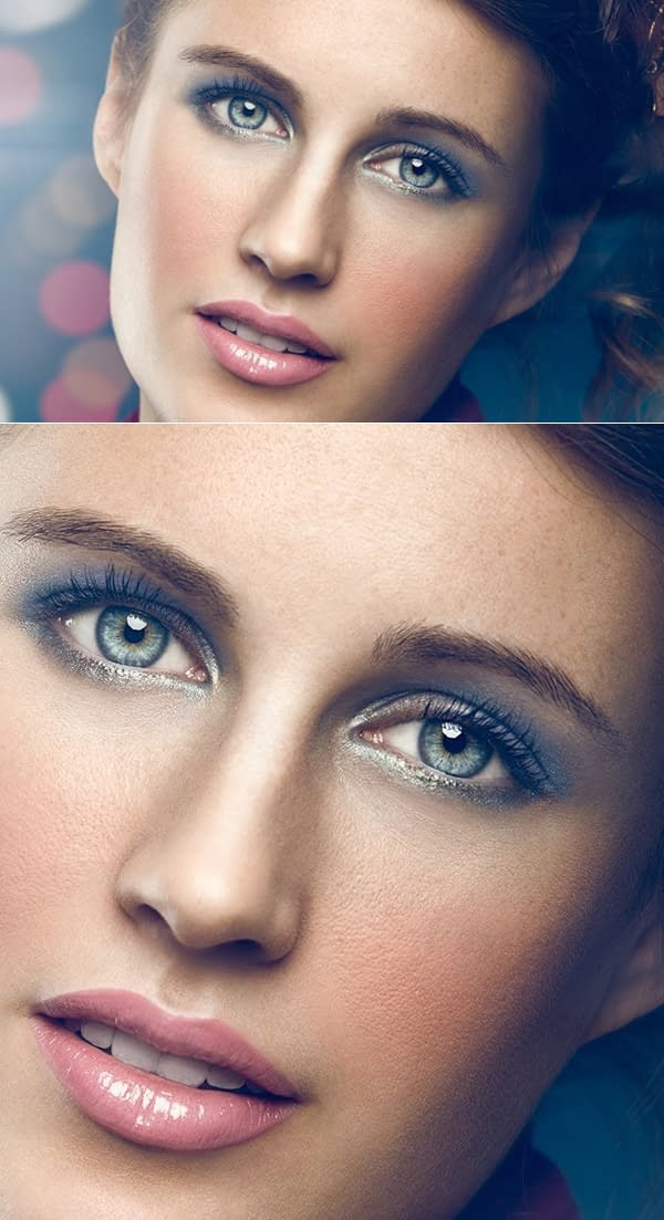 How to Removing Makeup with Frequency Separation in Photoshop Tutorial