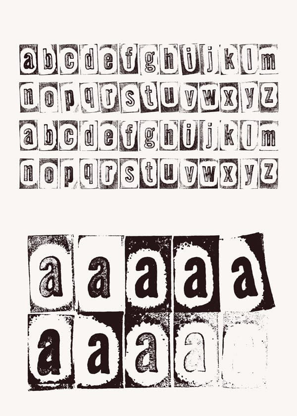 Stamp AMY Free Font Letters