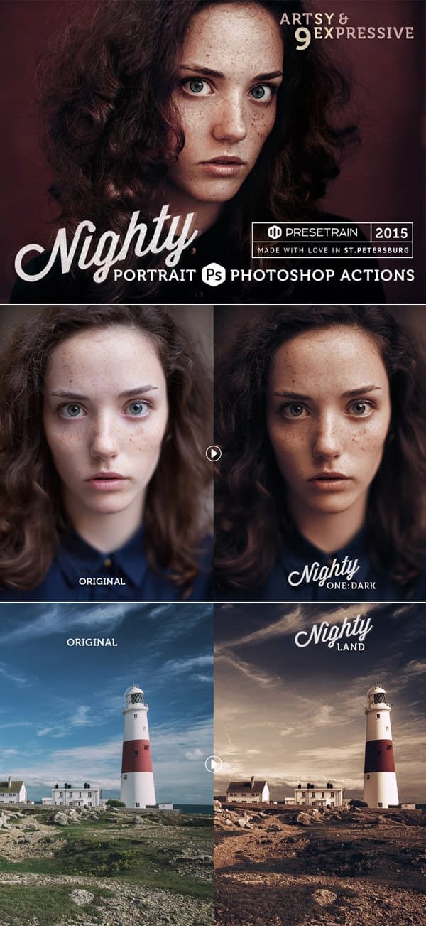 Nighty Photoshop Action Collection