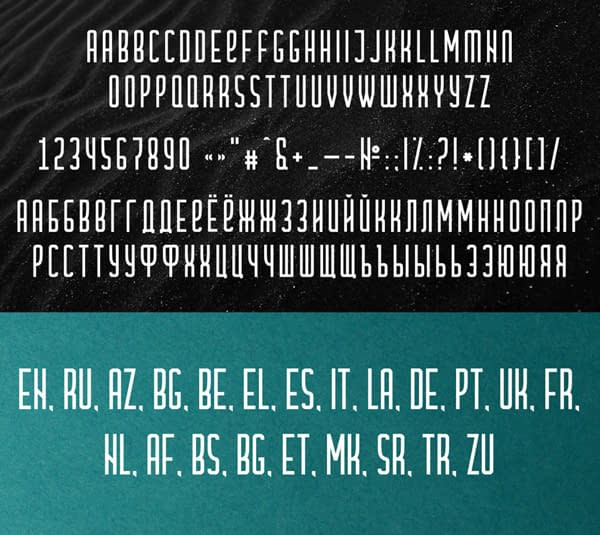 Cramaten Condensed Free Font Letters