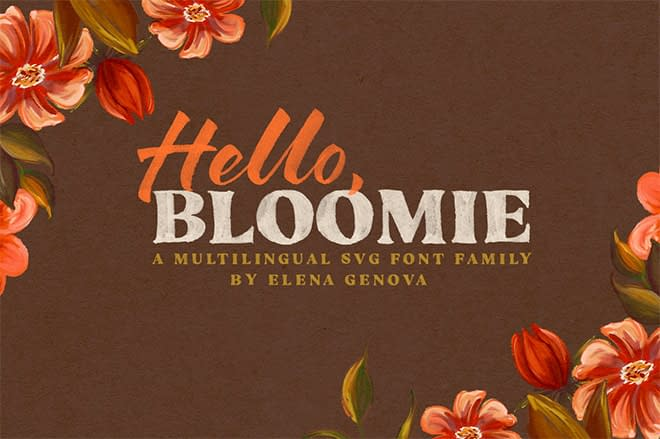 Hello Bloomie – SVG Font Family by My Creative Land