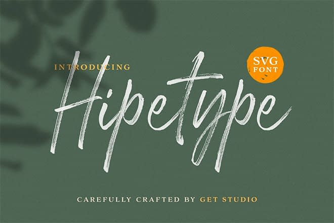 Hipetype SVG Font by Get Studio