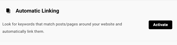 Automatic linking activation.