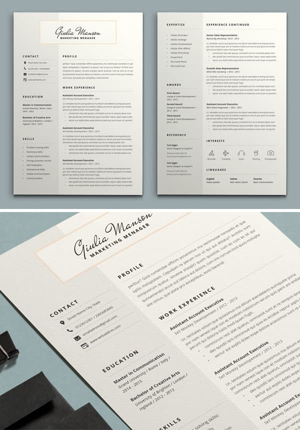 Beautiful Resume Design Template