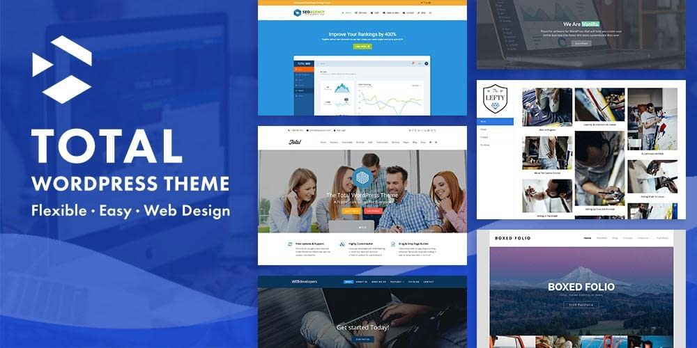 Total Theme website