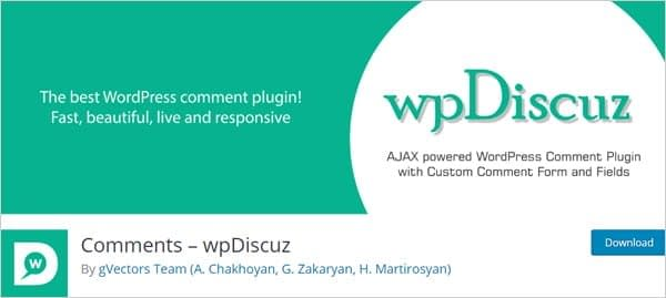 Comments by wpDiscuz