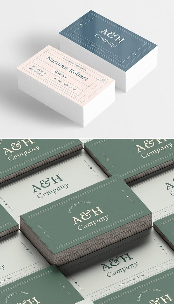 Modern Grid - Business Card Template