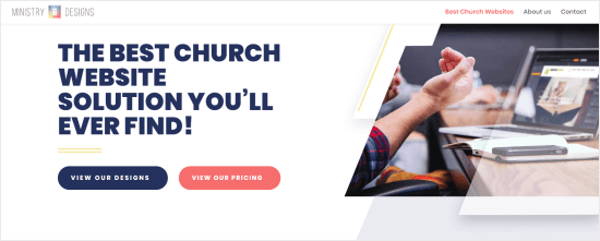 Ministry Designs website builder for churches