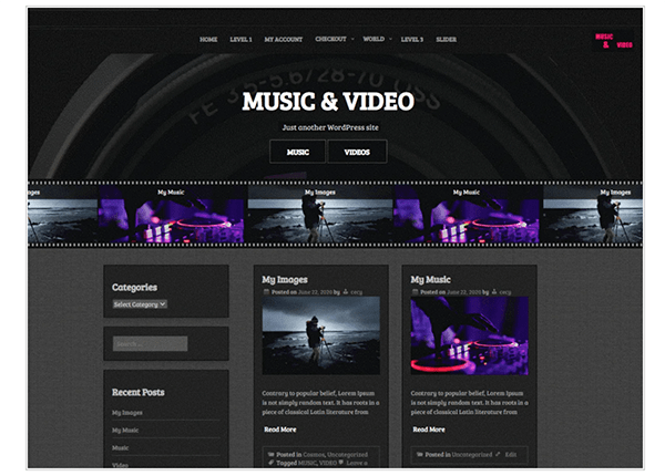 music and video