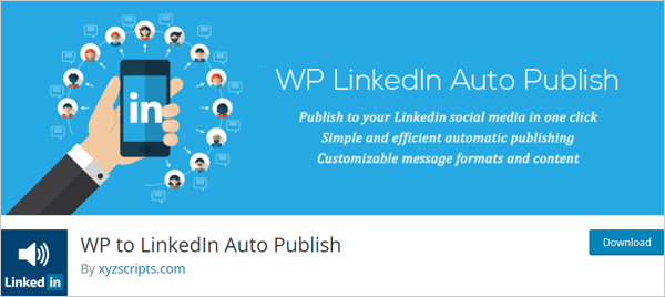 WP to LinkedIn Auto Publish plugin for WordPress.