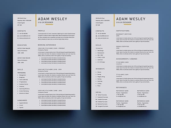 Free Simple Resume Templates